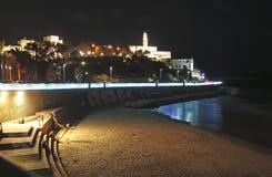 Vieux Yaffo par nuit, Israël Image libre de droits