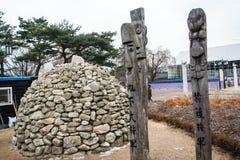 Vieux yard grave coréen Images stock