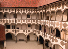 Vieux yard médiéval de château. Veliki Tabor photographie stock