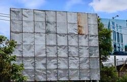 Vieux zinc d'annonce de bannière Image stock