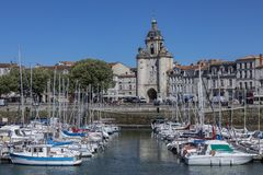 Vieuxhaven - La Rochelle - Frankrijk stock foto