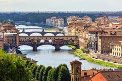 Viev του Ponte Vecchio στη Φλωρεντία στις 16 Ιουλίου 2016 Φλωρεντία Στοκ Εικόνα