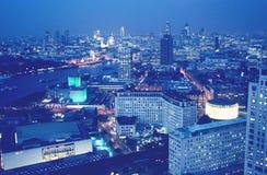 Viev de la antena de Londres Imagen de archivo libre de regalías