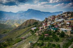 Viev des Dorfs von Choh stockbilder