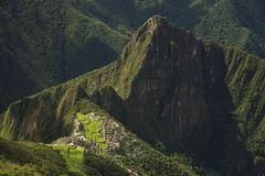 Viev di Machu Picchu, Perù immagini stock