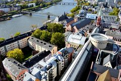 Viev geral do Francoforte - am - cano principal Fotos de Stock