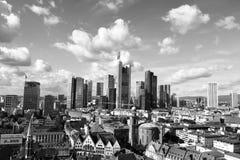 Viev geral do Francoforte - am - cano principal Fotografia de Stock