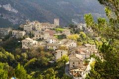A viev of Pierosara, little village near Genga and Frasassi. A view of Pierosara, little village near Genga and beautyful Frasassi caves Stock Image