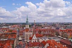 Viev przy starym miasteczkiem w Poznańskim Zdjęcia Stock