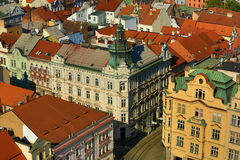 Viev from St. Bartholomew´s Cathedral on Republic Square, Pilsen, Czech Republic Stock Image