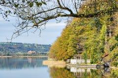 View湖Kochelsee 免版税库存图片