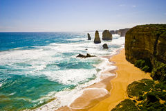 View of the 12 Apostles at Great Ocean Road, Melbo Stock Photo