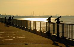 The View. A view over the Schelde, a river in Belgium Royalty Free Stock Images