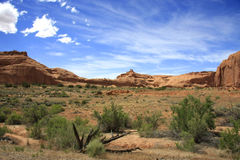 The View. Landscape and mountains at Arches National Park, Utah Royalty Free Stock Photography