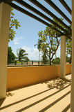 View. From a beach hotel room of a tropical country Stock Photo