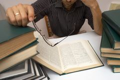 View. An image of man with books Royalty Free Stock Photos