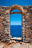 View. On a Mediterranean Sea from the Spinalonga island Royalty Free Stock Images