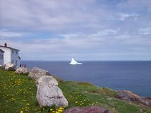 The view. Iceberg in July drifting slowly by Royalty Free Stock Photo