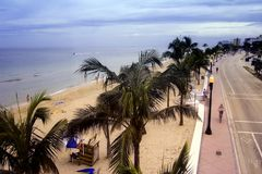View A1A Ft. Lauderdale stock photography