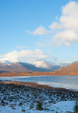 View from the A835 road to Ullapool. An image of the Winter landscape from the A835 Road to Ullapool which is situated on the Scottish West Coast. Loch Stock Images