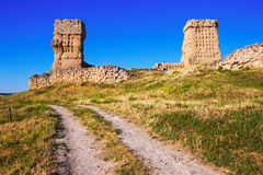 View of  abandoned castle of Palenzuela Royalty Free Stock Images