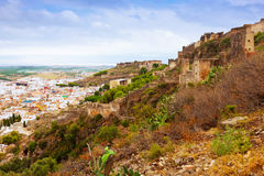View of abandoned Castle and town. Sagunto Stock Photos