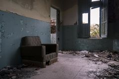 View of a abandoned house. Spain stock photography