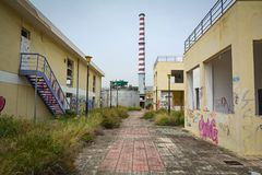 Abandoned industrial facilities at Greece Stock Images