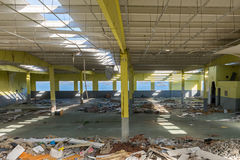 View of an abandoned warehouse Stock Photo