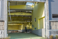 View of an abandoned warehouse Stock Images