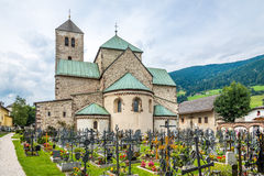 View at the abbey in San Candido (Innichen). Stock Images
