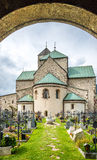 View at the abbey of San Candido. Stock Images