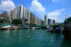View of the Aberdeen, Hong Kong. Royalty Free Stock Image