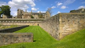 View of Aberdour Castle Royalty Free Stock Photos