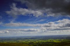 View from above. View of countryside from mountains in Northern Ireland royalty free stock image