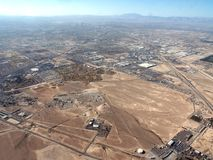 VIEW FROM ABOVE. View of Nevada from a small plane Royalty Free Stock Photography