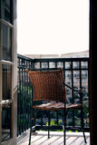 View from Above. Chair on a balcony royalty free stock photos