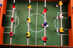 View from above. On a fooseball table Stock Images