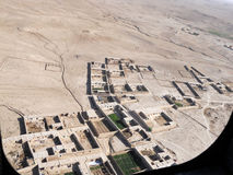 View Above A Village In Afghanistan Stock Image