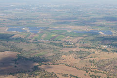 View from above, agricultural drought. Royalty Free Stock Photography
