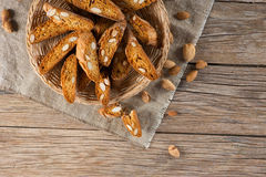 View of above of Almond Biscott Royalty Free Stock Photo