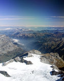 View above the alps Royalty Free Stock Images