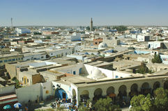A view from above of an arabic town. In the evening light Stock Images