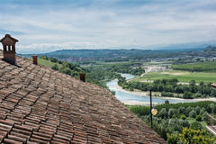 View from above of the Barbaresco zone, Italy Stock Photography