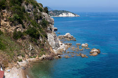 View Above Beach In Portoferraio, Elba Island Royalty Free Stock Photo