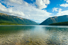 View above a beautiful lake Stock Photography
