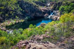 View from above at Bernang Lookout, Edith Falls, Australia Stock Photos