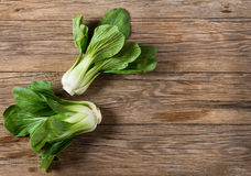 View from above of bok choy vegetable Stock Image