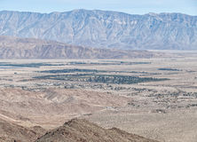 View from above Borrego Springs, California. Borrego Springs and the Santa Rosa Mountains, southern California royalty free stock image