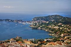View from above in Cap Ferrat stock image